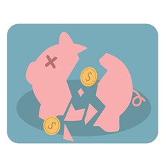 Coins Pink Coins Piggy Bank Dollars Money Tubes Double Sided Flano Blanket (large)  by Mariart