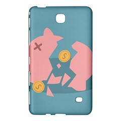 Coins Pink Coins Piggy Bank Dollars Money Tubes Samsung Galaxy Tab 4 (8 ) Hardshell Case  by Mariart