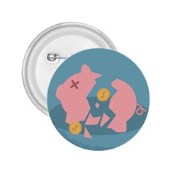 Coins Pink Coins Piggy Bank Dollars Money Tubes 2 25  Buttons by Mariart