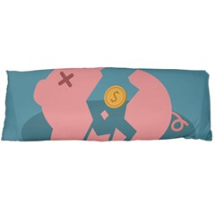 Coins Pink Coins Piggy Bank Dollars Money Tubes Body Pillow Case (dakimakura) by Mariart