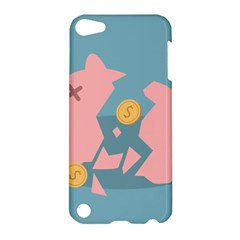 Coins Pink Coins Piggy Bank Dollars Money Tubes Apple Ipod Touch 5 Hardshell Case by Mariart