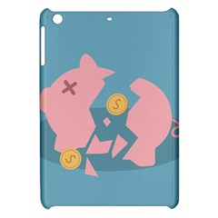 Coins Pink Coins Piggy Bank Dollars Money Tubes Apple Ipad Mini Hardshell Case by Mariart
