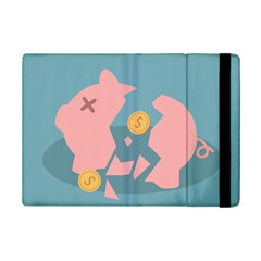 Coins Pink Coins Piggy Bank Dollars Money Tubes Ipad Mini 2 Flip Cases by Mariart
