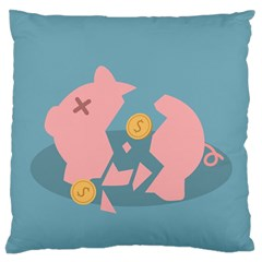 Coins Pink Coins Piggy Bank Dollars Money Tubes Standard Flano Cushion Case (one Side) by Mariart