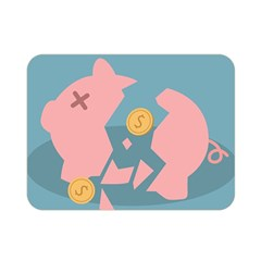 Coins Pink Coins Piggy Bank Dollars Money Tubes Double Sided Flano Blanket (mini)  by Mariart