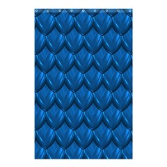 Blue Dragon Snakeskin Skin Snake Wave Chefron Shower Curtain 48  X 72  (small)  by Mariart