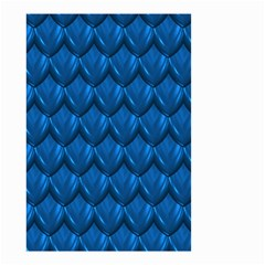 Blue Dragon Snakeskin Skin Snake Wave Chefron Small Garden Flag (two Sides) by Mariart