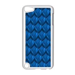 Blue Dragon Snakeskin Skin Snake Wave Chefron Apple Ipod Touch 5 Case (white) by Mariart