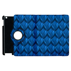 Blue Dragon Snakeskin Skin Snake Wave Chefron Apple Ipad 2 Flip 360 Case by Mariart