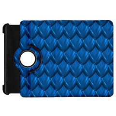 Blue Dragon Snakeskin Skin Snake Wave Chefron Kindle Fire Hd 7  by Mariart
