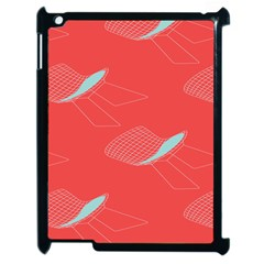 Chairs Wicker Cafe Party Comfortable Red Blue Apple Ipad 2 Case (black) by Mariart