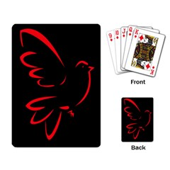 Dove Red Black Fly Animals Bird Playing Card by Mariart