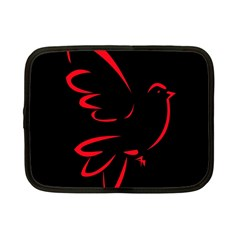 Dove Red Black Fly Animals Bird Netbook Case (small)  by Mariart