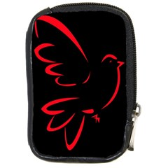 Dove Red Black Fly Animals Bird Compact Camera Cases by Mariart