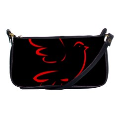 Dove Red Black Fly Animals Bird Shoulder Clutch Bags by Mariart