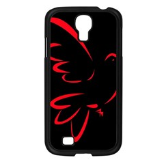 Dove Red Black Fly Animals Bird Samsung Galaxy S4 I9500/ I9505 Case (black) by Mariart