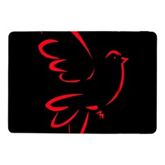 Dove Red Black Fly Animals Bird Samsung Galaxy Tab Pro 10 1  Flip Case by Mariart