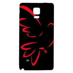 Dove Red Black Fly Animals Bird Galaxy Note 4 Back Case by Mariart