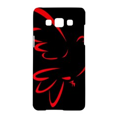 Dove Red Black Fly Animals Bird Samsung Galaxy A5 Hardshell Case  by Mariart