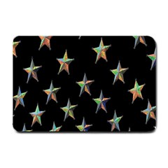 Colorful Gold Star Christmas Small Doormat