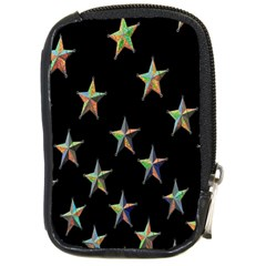 Colorful Gold Star Christmas Compact Camera Cases by Mariart