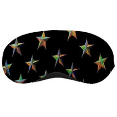 Colorful Gold Star Christmas Sleeping Masks by Mariart