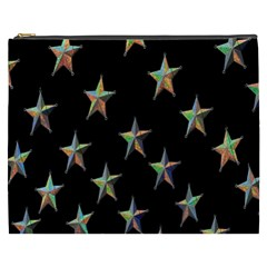 Colorful Gold Star Christmas Cosmetic Bag (xxxl)  by Mariart