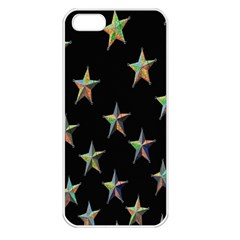 Colorful Gold Star Christmas Apple Iphone 5 Seamless Case (white) by Mariart