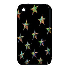 Colorful Gold Star Christmas Iphone 3s/3gs by Mariart