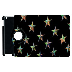 Colorful Gold Star Christmas Apple Ipad 3/4 Flip 360 Case by Mariart