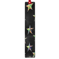 Colorful Gold Star Christmas Large Book Marks by Mariart