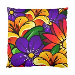 Bright Flowers Floral Sunflower Purple Orange Greeb Red Star Standard Cushion Case (two Sides) by Mariart