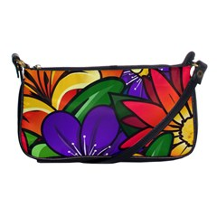 Bright Flowers Floral Sunflower Purple Orange Greeb Red Star Shoulder Clutch Bags by Mariart