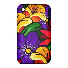 Bright Flowers Floral Sunflower Purple Orange Greeb Red Star Iphone 3s/3gs by Mariart