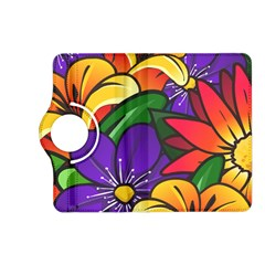 Bright Flowers Floral Sunflower Purple Orange Greeb Red Star Kindle Fire Hd (2013) Flip 360 Case by Mariart