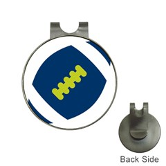 Football America Blue Green White Sport Hat Clips With Golf Markers by Mariart
