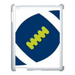 Football America Blue Green White Sport Apple Ipad 3/4 Case (white) by Mariart