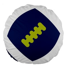 Football America Blue Green White Sport Large 18  Premium Round Cushions by Mariart