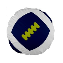 Football America Blue Green White Sport Standard 15  Premium Flano Round Cushions by Mariart