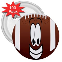 Happy Football Clipart Excellent Illustration Face 3  Buttons (100 Pack)  by Mariart