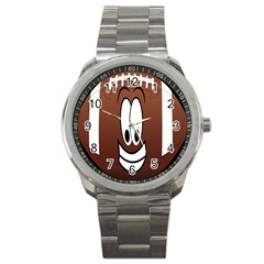Happy Football Clipart Excellent Illustration Face Sport Metal Watch by Mariart