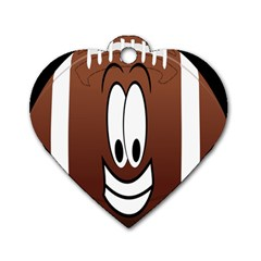 Happy Football Clipart Excellent Illustration Face Dog Tag Heart (one Side) by Mariart