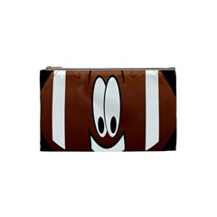 Happy Football Clipart Excellent Illustration Face Cosmetic Bag (small)  by Mariart