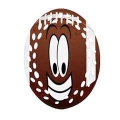 Happy Football Clipart Excellent Illustration Face Oval Filigree Ornament (two Sides) by Mariart