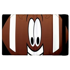 Happy Football Clipart Excellent Illustration Face Apple Ipad 3/4 Flip Case by Mariart