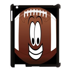 Happy Football Clipart Excellent Illustration Face Apple Ipad 3/4 Case (black) by Mariart