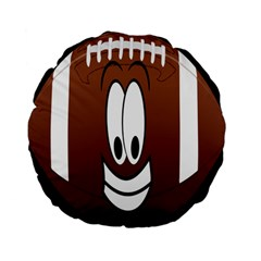 Happy Football Clipart Excellent Illustration Face Standard 15  Premium Flano Round Cushions by Mariart