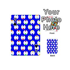 Easter Egg Fabric Circle Blue White Red Yellow Rainbow Playing Cards 54 (mini)  by Mariart