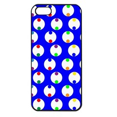 Easter Egg Fabric Circle Blue White Red Yellow Rainbow Apple Iphone 5 Seamless Case (black) by Mariart