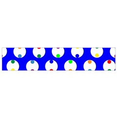 Easter Egg Fabric Circle Blue White Red Yellow Rainbow Flano Scarf (small) by Mariart